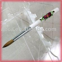 fashionable round crystal nail art brush