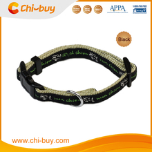 15~25cm Black Printing Pet Trainer Dog Collar, Free Shipping on 49usd order