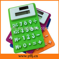 folding silicone calculator with 8 digital