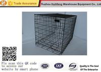 """Pet Kennel Crate 48"""" Dog 2 Door Divide Tray Fold Metal Pet Cage Animal House"""