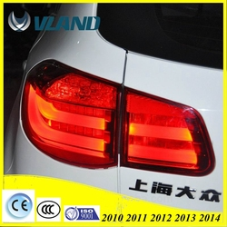 ABS 12V Modified Led taillight rear light for VOLKSWAGEN TIGUAN 2010-2013(ISO9001&TS16949)