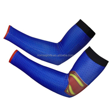 Custom made arm and hand sleeves wholesale sublimation workout sun protection compression arm sleeves