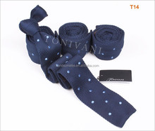 Factory of ODM Hot Sale Casual Colorful Dot Knitted Skinny Necktie
