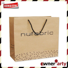 2015 New Fancy Eco Friend Custom Paper Bags with Logo