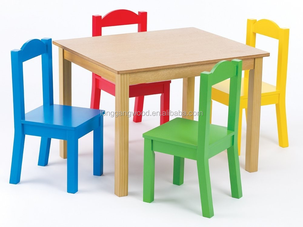 Charmant Kindergarten Solid Wood Kids Study Playing Table Chair Childrens Wooden  Table And Chairs Set Wooden Kids Table Chair
