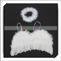 Wholesale! 0-6 months Baby Feather Angel Halo Costume -F1005WH