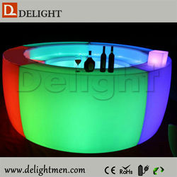 Cafe shop table glow up plastic 16 color changing rechargeable bar furniture cocktail bar counters design for home