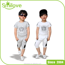 High quality selection 2015 lion pattern new styles and technology boys cute outfits wholesale