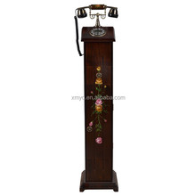China Wood Craft Modern Design Vintage Home Decor Antique Wooden Telephone Stand