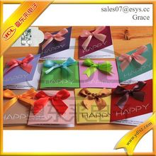 High Quality high end christmas cards With Beautiful Handmade Finishing bowknot