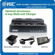 Las ventas caliente 6-way rápido cargador inteligente de radio portátil cargador para radios de dos vías