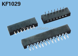 PITCH 2.54mm FPC CONNECTOR T/H&R/A TYPE STRAIGHT LEG OR CURVED LEG