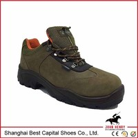 factory price steel toe/ISO standard foot protect PU injection italy safety shoe