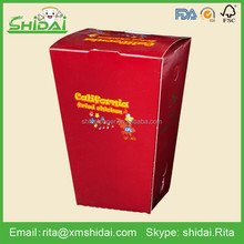 Hot sale factory supply chicken 157gsm coated paper take away food box