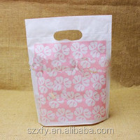 Custom Pink Printed Plastic Packing Bag for gift