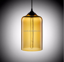 new restaurant concept creative fashion creative bar decorated bell glass chandelier hanging lighting