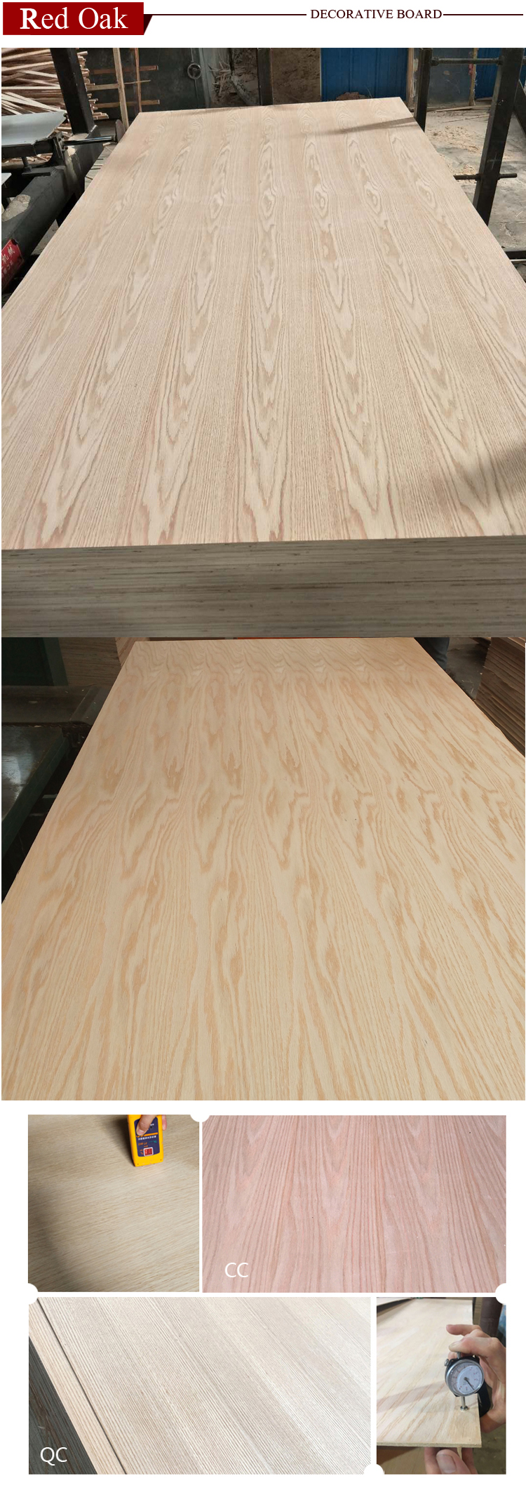 natural red oak plywood decorative paper