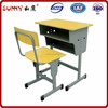 Hot style wood student desk with chair set for school