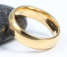 classic tungsten carbide ring 18k gold wedding rings