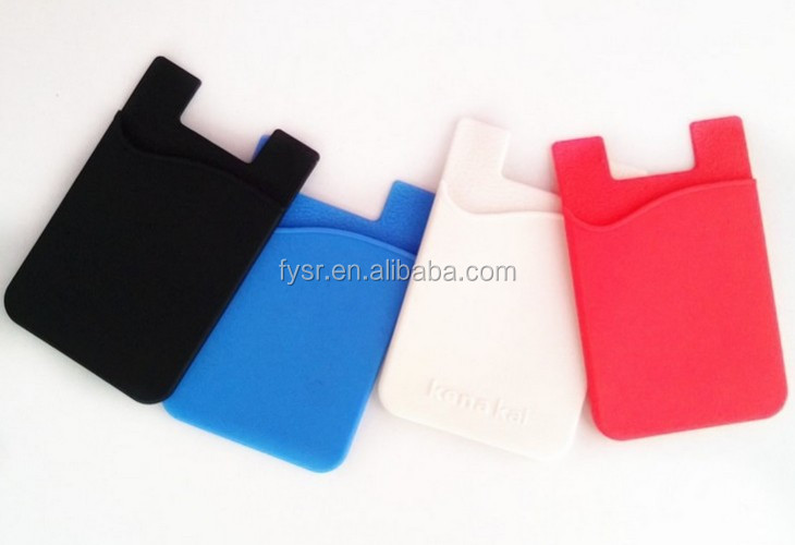 2015 high quality promotional silicone 3m sticker smart wallet for mobilephone