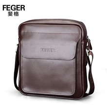 high quality cow leather messenger bag for men with wholesale price
