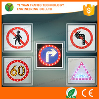 Aluminum 12 V/3.5 W Solar Powered LED Traffic Warning Sign Board for Traffic Safety Control Road Arrow Sign Boards