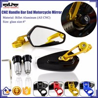 BJ-RM-061B High Performance Aluminum Handle Bar End Motorcycle Rearview Mirror CNC