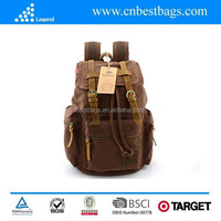 Vintage Style Canvas Durable Travel Backpack