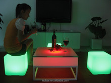 led cube furniture sale LED table with rechargeable battery