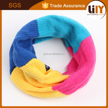 low moq hand printed color matching knitting yarn children's scarf