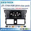 """ZESTECH dvd player gps radio TV FM AM 7"""" car dvd player for Toyota Yaris car dvd player gps 2014 newest"""