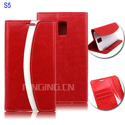 New product PU leather flip cell phone case for Samsung S5