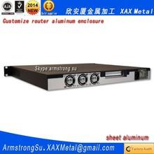 XAX506Alu OEM ODM customized laser cut bend weld plate aluminum electric cabinet Router box