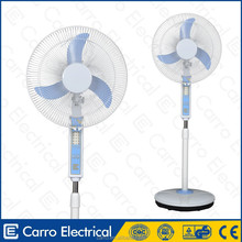pedestal 12V 16 inch rechargeable stand fan with led light and battery