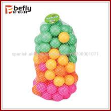 Bolas coloridas de plástico de alta calidad para la piscina de bolas