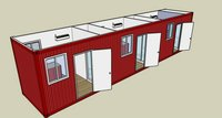 Containerized bed room with bathroom
