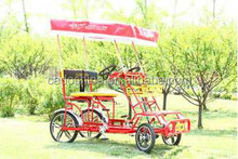 china luxury family four wheel adult two person surrey bike for sale