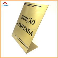 Clothing Store AD Exhibition Display Stand L Shape Metal Table Top Display Tent