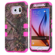Forest Branch Bark Robot Armor Impact Hybrid 3 in1 PC Silicone Shockproof Combo Phone Back Case Cover For Samsung G9200
