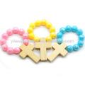 Multicolor crianças dedo anel de rosário, acrílico rosário dedo. Fr06