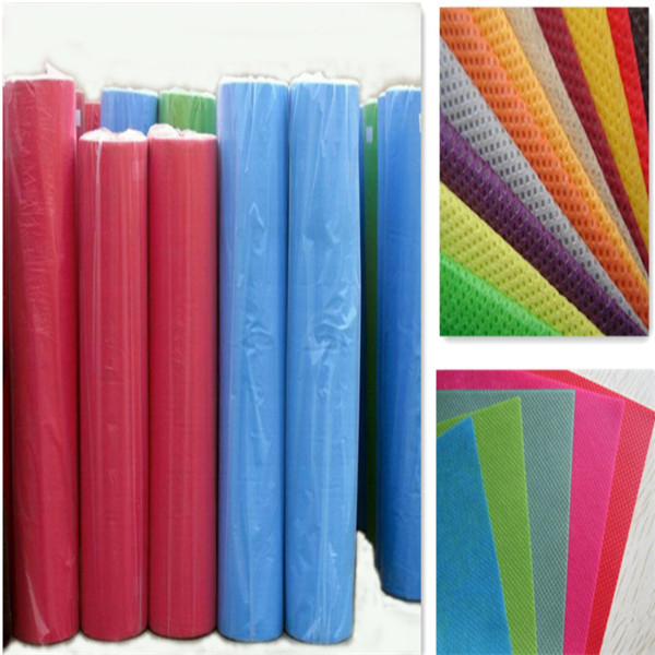 colorful breathable disposable eco-friendly pp spunbond nonwoven fabric