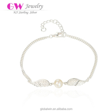 S925 Silver Jewelry Freshwater Pearl Lobster Clasp Bracelets
