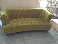 Custom hand carved furniture three seat corner recliner sofa for living room