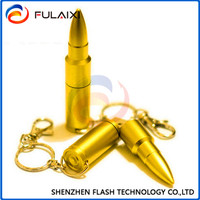 Top selling cheapest golden 8gb bullet usb flash drive with life warranty