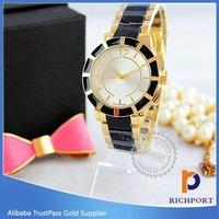 Two tone wrist custom design women watch distributors and wholesalers