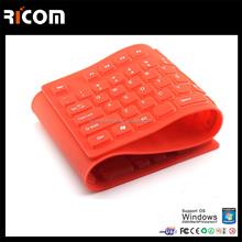 Compact Size Silicone Flexible Keyboard,wireless flexible keyboard,bluetooth flexible keyboard---SKB-210--Shenzhen Ricom