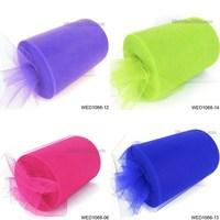 6'' 100 Yard 17 colors spool tutu wholesale tulle rolls