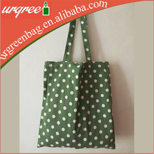 Colorful Polka Dots Painting 100% Cotton Hand Bag For Lady