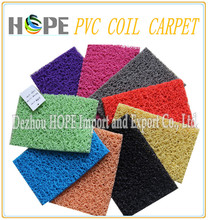 PVC coil mat with border for outdoor floor use waterproof carpet `