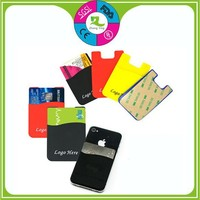Wholesale cheap custom funky silicone mobile phone card holders